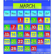 Scholastic Monthly Calendar Pocket Chart Add On Cards