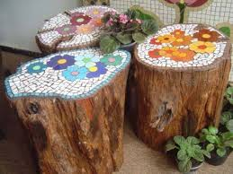 12 Creative Home Design Ideas For Old Tree Stumps I'm Doing #5 Right Now.