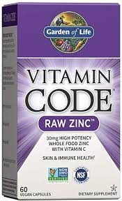 Garden of Life Vitamin Code Raw Zinc, 30mg Whole ... - Amazon.com