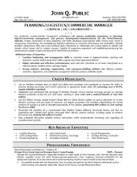 logistic resume samples