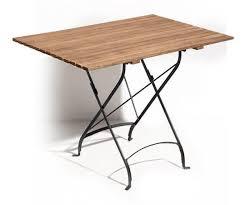 Stylish Folding Wooden Garden Table Zeno Natural Wood Oak Garden