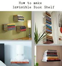 How to Make Invisible Book Shelf