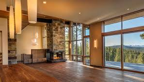 acucraft custom corner gas fireplace martis camp home truckee ca photo courtesy of crestwood construction