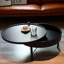 modern chic round wood storage coffee