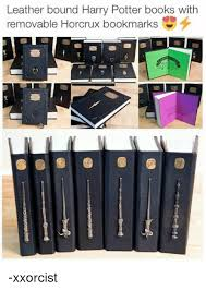 memes and harry potter books leather bound harry potter books with removable
