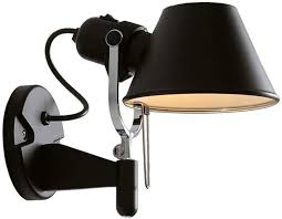 Moderne E27 Wandleuchte Schwarz Metall Schatten Schwenkbar Design