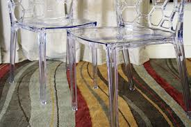 Acrylic Dining Room Chairs Baxton Studio Honeycomb Acrylic Modern Dining Chair Set Of 2