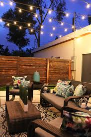 outside hanging string lights outdoor style how to hang commercial grade string lights blue i