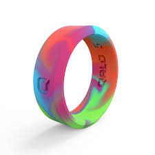 Qalo Ring Chart Unisex Modern Tie Dye Silicone Ring In 2019 Silicone Rings