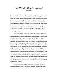 an essay about english as a global language english as a global language essay globalization and lifestyle
