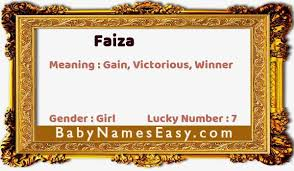Ask anything you want to learn about faiza by getting answers on askfm. What Is The Meaning Of Name Faiza Babynameseasy