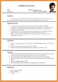 New Resume Format Adorable New Resume Format Sample New Resume Model Resume Format Sample Pdf