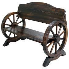 garden seat on wheels. Wooden Garden Bench Seat Wheels Cart Wagon Patio Outdoor Hard Wood Furniture On