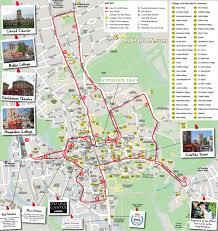 oxford map  hopon hopoff double decker city sightseeing open