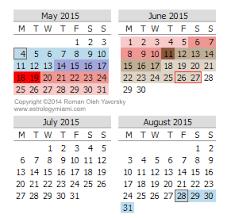 Calendar June July 2015 Mercury Retrograde Calendar For 2015