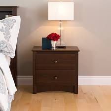 prepac fremont drawer tall night stand with open shelf
