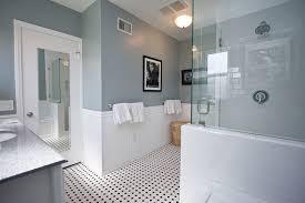 white floor tiles bathroom. Inspiration For A Timeless White Tile And Subway Mosaic Floor  Corner Shower Remodel In Tiles Bathroom
