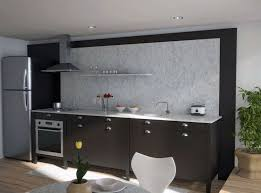 black kitchen cabinets with white marble countertops. Unique Black Kitchen Cabinet Design With Marble Countertops And Backsplash Cabinets White