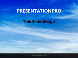 Beautiful Blue Sky Powerpoint Template Background In Nature