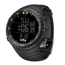 PALADA Men's <b>Waterproof Sports</b> Quartz <b>Digital Wrist Watch</b> with ...