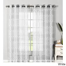 60 inch wide curtains. Window Elements Delta Blend Burnout Sheer Extra Wide 84 Inch Grommet Curtain Panel Pair 60 Curtains