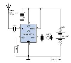 radio receiver antenna amplifier vhf rf preamplifier circuit schematic