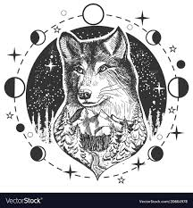 Wolf Design Sweatshirts Wolf Head Tattoo Or T Shirt Print Design