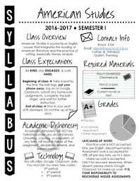 Syllabus Template High School Visual Syllabus Editable Template Create Your Own