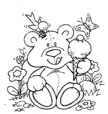 Small Picture Cute Teddy Bear Coloring Pages GetColoringPagescom