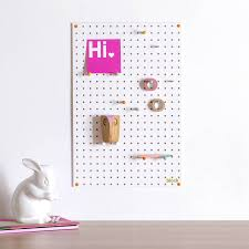 White peg boards Tool White Pegboard With Wooden Pegs Medium Notonthehighstreetcom White Pegboard With Wooden Pegs Medium By Block