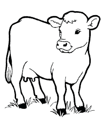 Farm Animal Coloring Pages For Preschoolers Healthy Milch Cow In