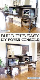 bnib ikea oleby wardrobe drawer. Build This Easy DIY Foyer Console Table With Beautiful Turned Legs From The House Of Wood Bnib Ikea Oleby Wardrobe Drawer E