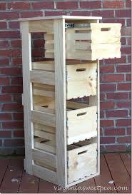 wood crate furniture diy. DIY Cabinet With Sliding Crate Drawers Wood Crate Furniture Diy T