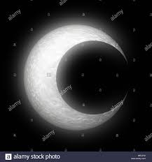 Crescent Moon Design Stylized Abstract Textured Crescent Moon Design On Black