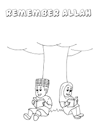 Coloring Muslim Kid Inspirationa 28 Collection Of Islamic Coloring