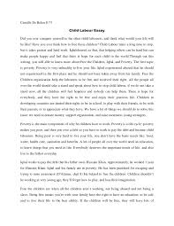 child labor essay argumentative essay about child labor child  child labour essay writingcamille child labour essay