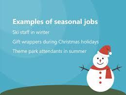 Summer Seasonal Jobs Examples Of Seasonal Jobs Gift