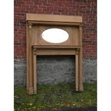 antique quartersawn oak fireplace mantel