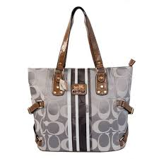 Perfect Coach In Signature Logo Medium Grey Totes Bfd Sale UK rCGhH