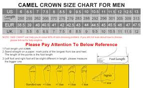 Camel Size Chart Amazon Com Camel Crown Mens Outdoor Leather Hiking Shoes
