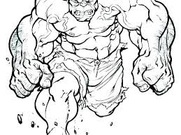 Printable Hulk Coloring Pages Incredible Best Kids Images On The