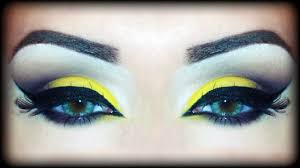 yellow brown fall arabic makeup tutorial inspired by melissa samways you sparkling silver smokey eye