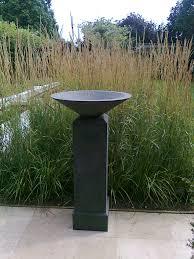 wondrous duck stone bowl bird bath design with three duck statue