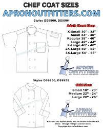 Chef Coat Size Chart