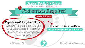 bexley podiatry clinic chiropodists podiatrists in bexley bexley podiatry clinic podiatrists required job available in bexley we are a