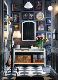 ikea hallway furniture. a small grey hallway with white console table and mirror shown together ikea furniture m