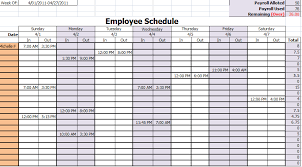 Free Employee Scheduling Template Hashtag Bg