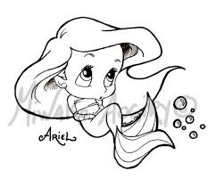 Small Picture Baby Ariel Coloring Pages esonme