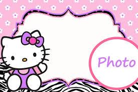 Printable Hello Kitty Invitations Personalized Personalized Hello Kitty Invitation Template Hello Kitty