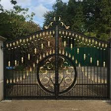 contemporary high quality decorative metal garden wrought iron entrance gates priceu2013iok199 cheap driveway for sale d68